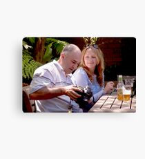 The Man and His Gear Canvas Print