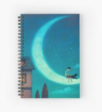 August night Spiral Notebook