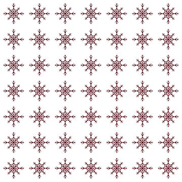 Christmas Pattern Series - Snowflake 2 Dark Red by Ian2Danim