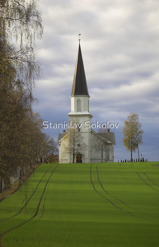Church in a Field  by Stanislav Sokolov