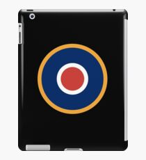 WAR, Spitfire, Bulls eye, Target, Archery, Plane, Aircraft, Flight, Wing, on black iPad Case/Skin