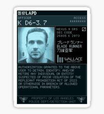 K D6-3.7 LAPD Detect Device Sticker