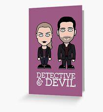 Chloe and Lucifer Greeting Card