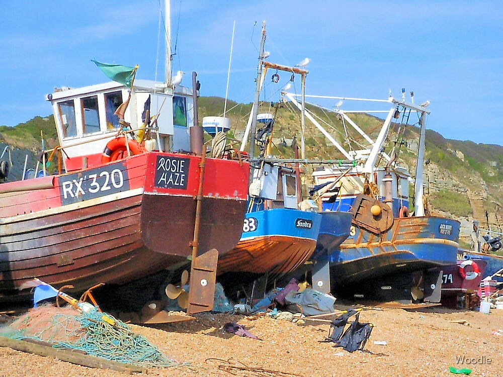 Rosie Haze Wooden fishing boat by Woodie