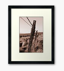 Barbed Fence Framed Print