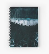Wave in Motion - Ocean Photography Spiral Notebook