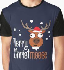 Merry Christmoose, novelty festive Christmas design Graphic T-Shirt