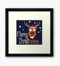 Merry Christmoose, novelty festive Christmas design Framed Print