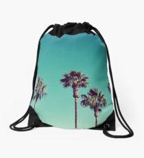 California Palm Trees Drawstring Bag