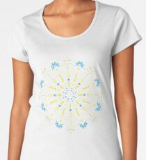 Python Mandala - Stained glass Women's Premium T-Shirt