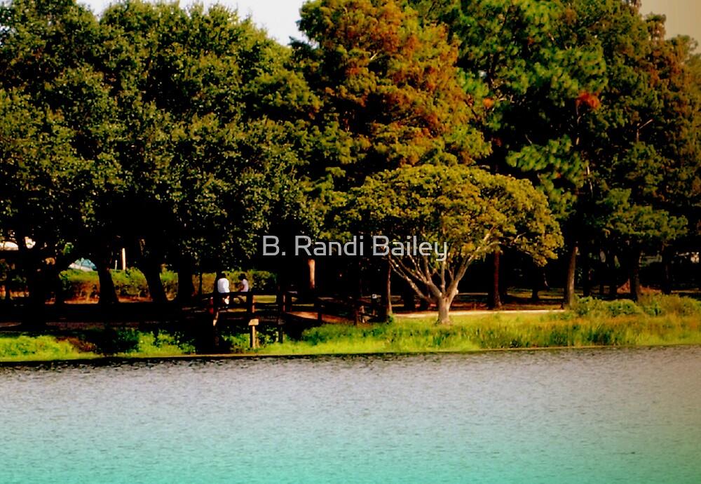 Lake edge at the local park by ♥⊱ B. Randi Bailey