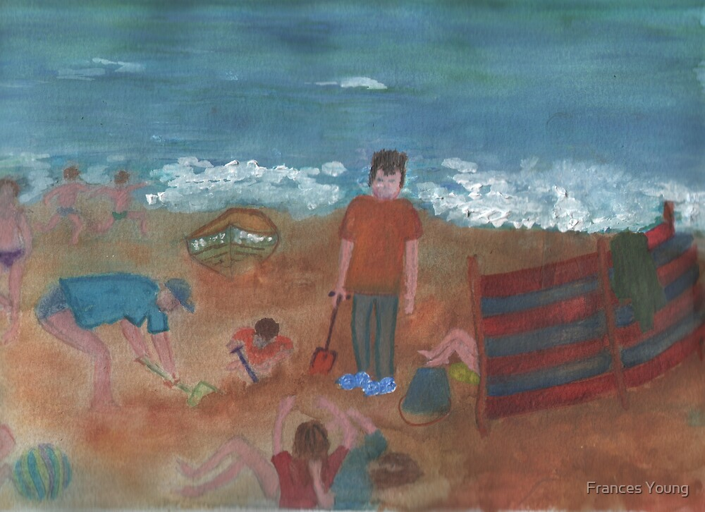 Beach Scene by Frances Young
