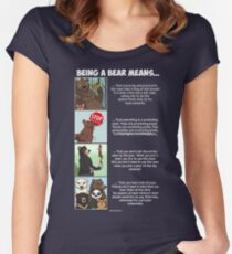 Being a Bear Means... Women's Fitted Scoop T-Shirt