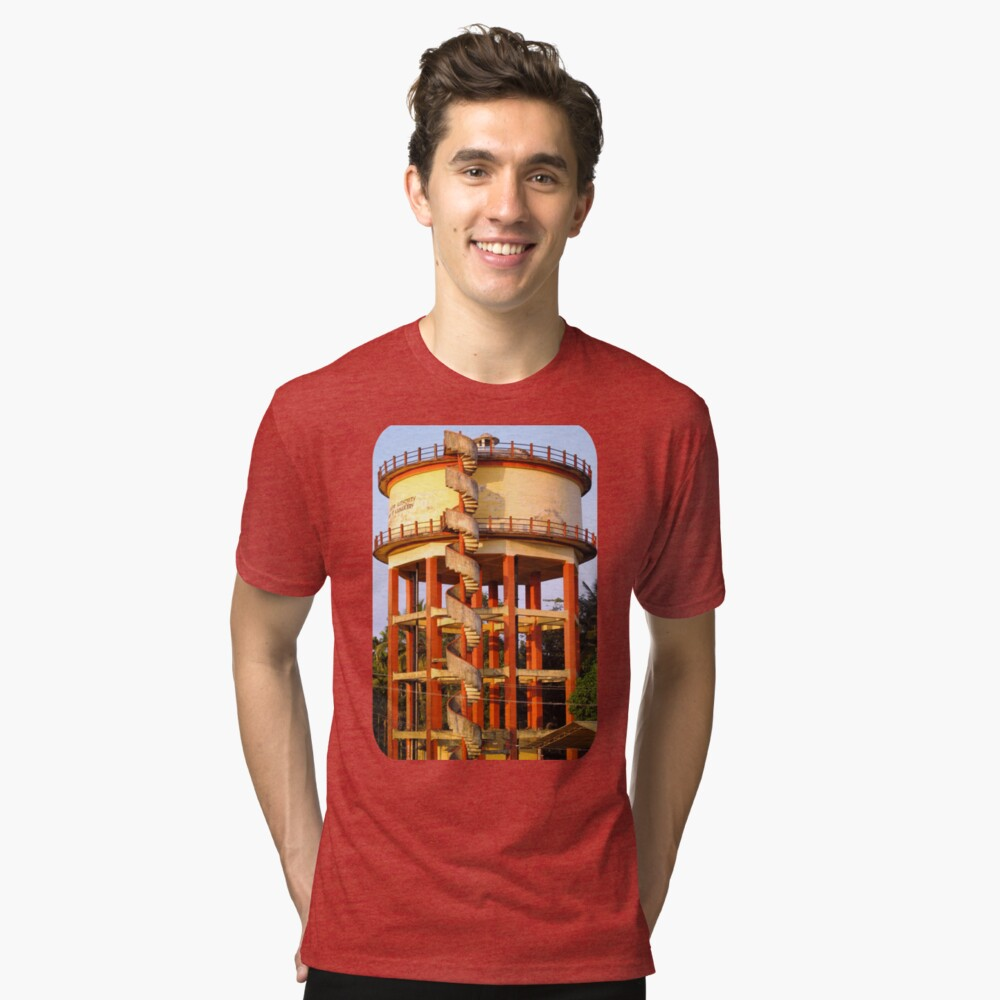 Water Tower  Tri-blend T-Shirt Front
