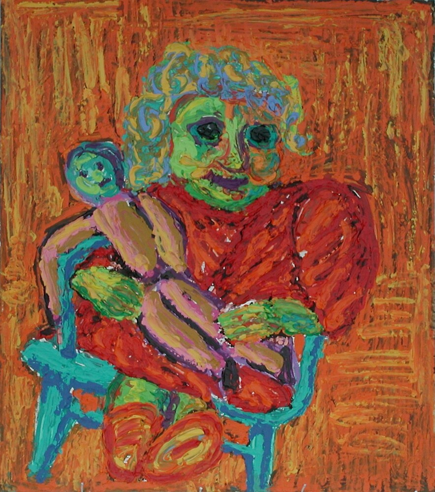 Girl With Doll by Stewart Pelton