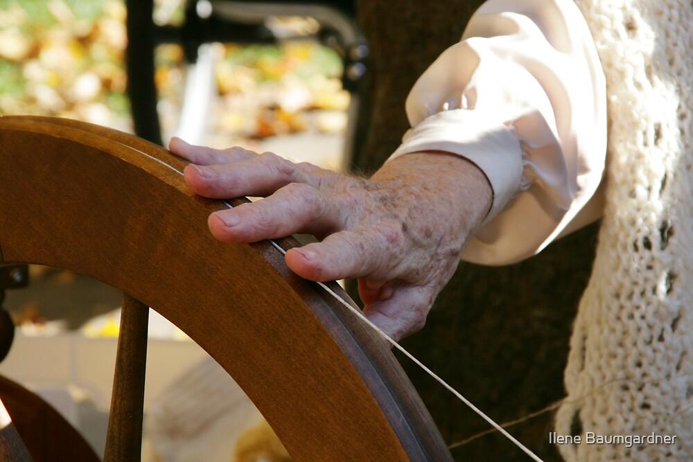 Grandma Spinning by Ilene Baumgardner