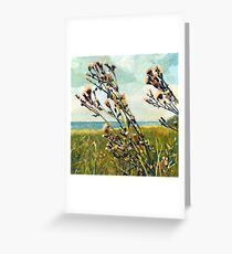Thistle on the Beach Greeting Card