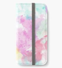 Watercolor abstract expressionism iPhone Wallet/Case/Skin