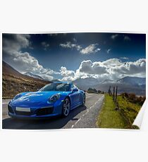 Porsche 911 on the Isle of Skye  Poster