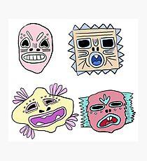 Tiny Lil masks Photographic Print