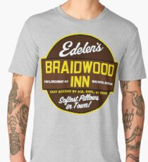"""Braidwood Inn - Wichita KS"" - Motel on ""Planes, Trains & Automobiles"" Men's Premium T-Shirt"