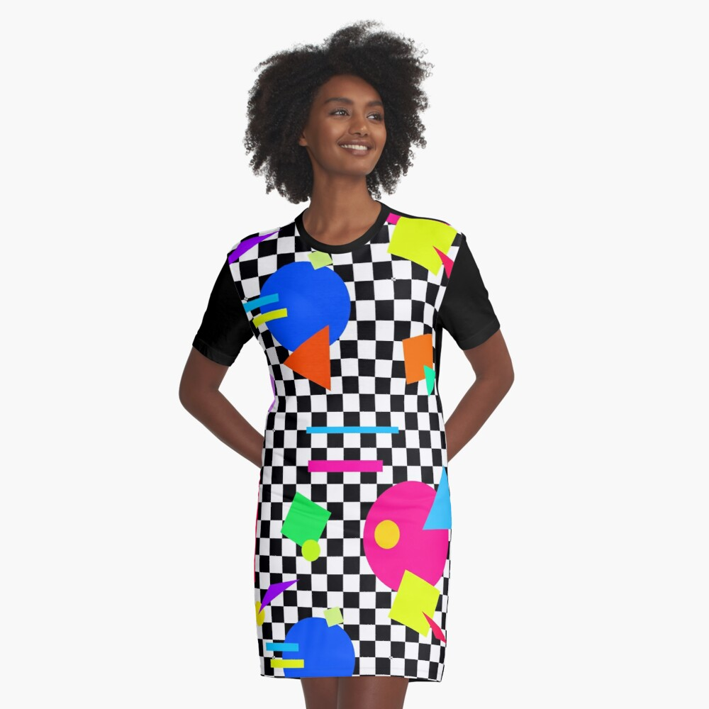 2 Tone and 80s Shapes T-shirt Dress