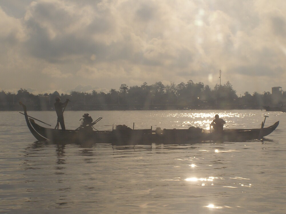 6am on the Ton Le Sap River, Phnom Penh, Cambodia by John1959