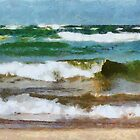 Waves Crash by Michelle Calkins