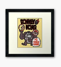 Vintage Donkey Kong Sticker Framed Print
