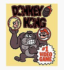 Vintage Donkey Kong Sticker Photographic Print