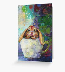 Bunny in a teacup painting - 2010 Greeting Card