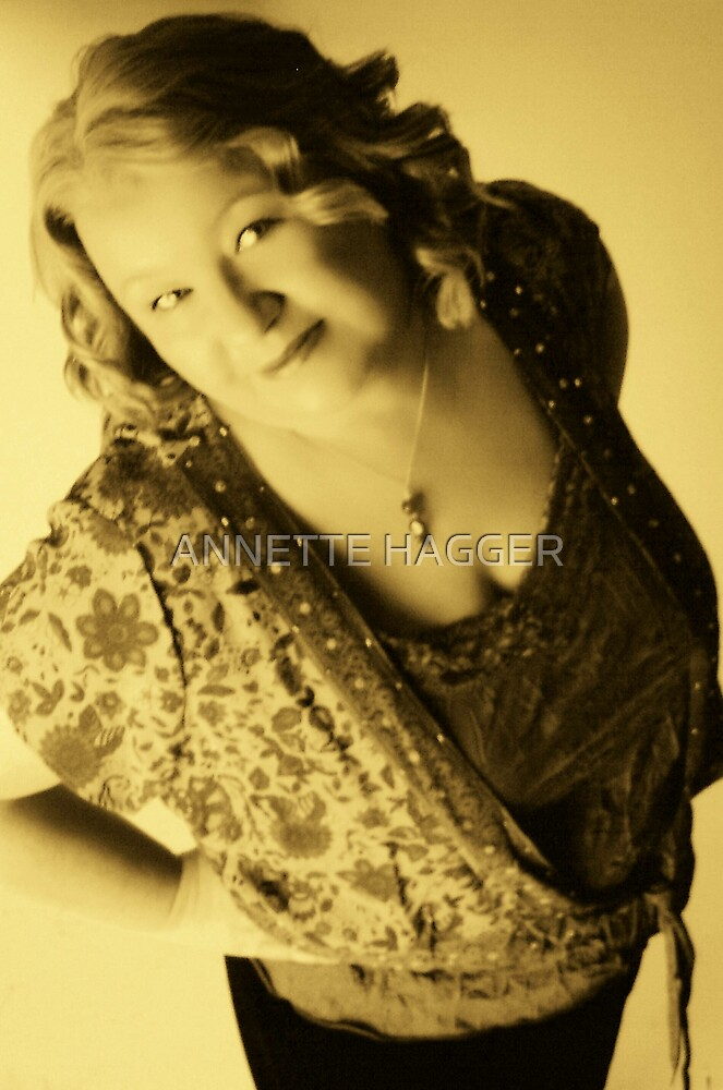 Just me in sepia ! by ANNETTE HAGGER