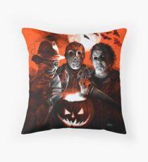 Super Villains Halloween Throw Pillow