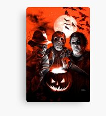 Super Villains Halloween Canvas Print