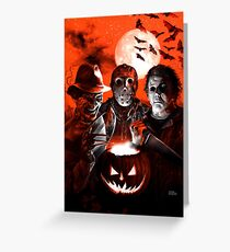 Super Villains Halloween Greeting Card