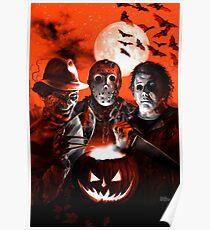 Super Villains Halloween Poster