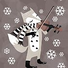 foxy violinist winter by tonadisseny