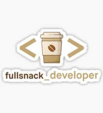 Coffee and Code - Fullsnack Developer Sticker