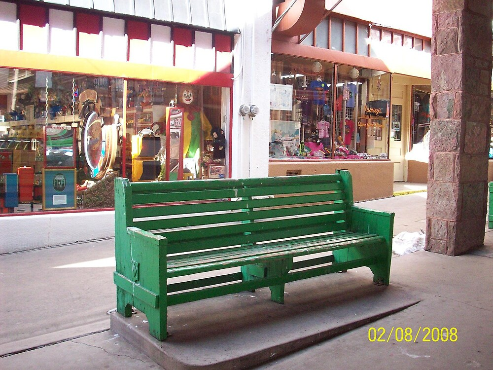Manitou Arcade Bench, Manitou Springs by HungarianGypsy