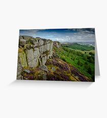 Froggatt Edge, Peak District Greeting Card