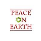 Peace On Earth Christmas Boxwood Wreath by Ann Drake
