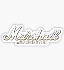Marshall Amp - White and Gold Sticker