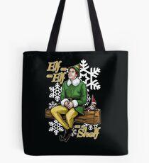 Elf on an Elf on a Shelf Tote Bag