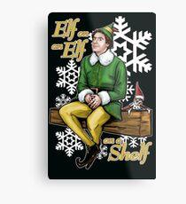 Elf on an Elf on a Shelf Metal Print