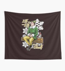 Elf on an Elf on a Shelf Wall Tapestry