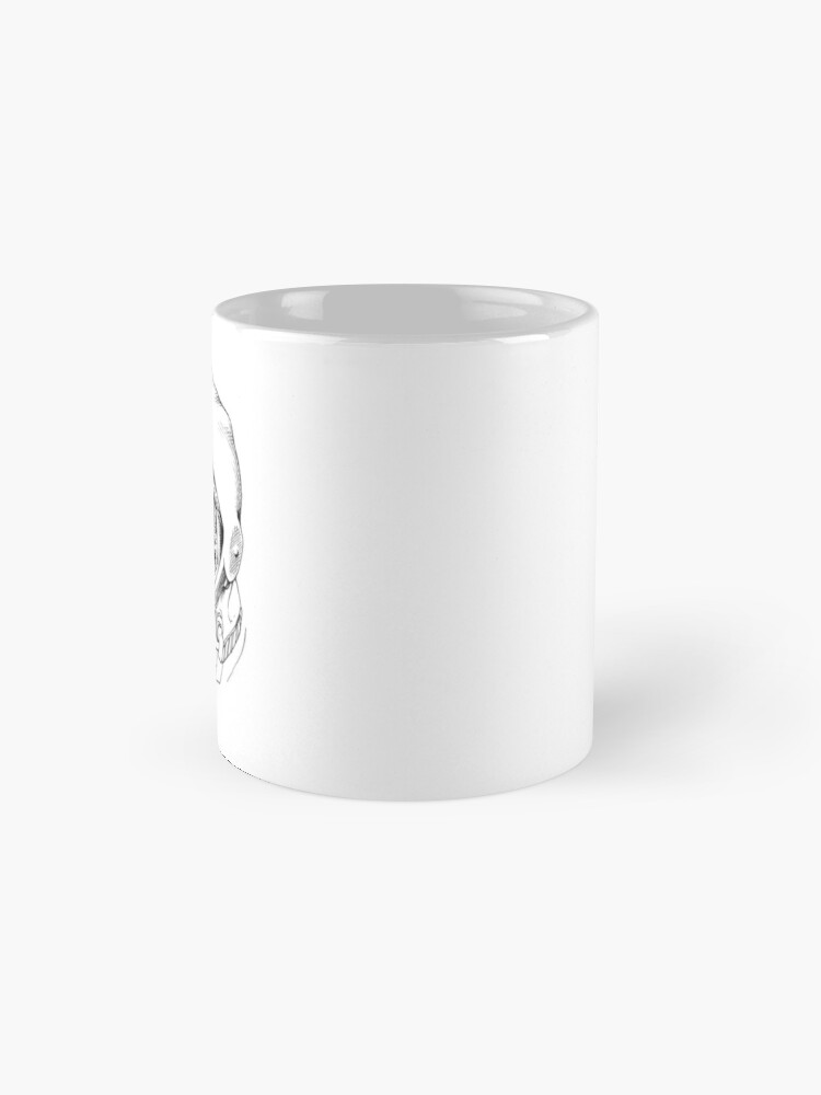 Alternate view of Laika, space traveler Mug