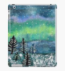 Winter Scene Watercolor Painting iPad Case/Skin