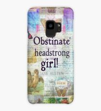 Obstinate, headstrong girl! Jane Austen quote Case/Skin for Samsung Galaxy