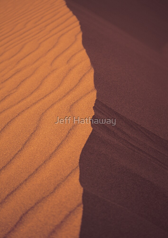 Top of a desert sand dune by Jeff Hathaway