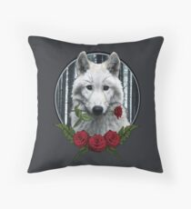 Wolf with Rose - Graphic Style Bodenkissen